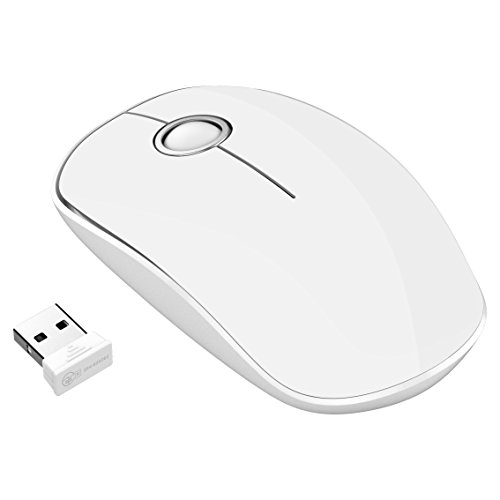 VicTsing 2.4G Wireless Mouse with Nano, Quiet and 1600 dpi Click for PC, Laptop, Computer and MacBook - Black (Blanco)
