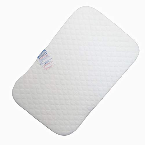 Bedside Crib Mattress 83cm x 50cm x 5cm with Removable Quilted Zipped Cover - Compatible with Next to Me Crib