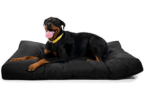 K9 Ballistics Tough Rectangle Nesting XL Extra Large Dog Bed - Washable, Durable and Waterproof Dog Bed - Made for Big Dogs, 38'x54', Black