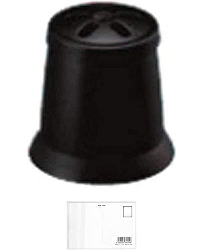 三菱鉛筆 ジェットストリーム 41 MSXE5-1000用 消しゴムキャップ ブラック BKCMSXE51024 【× 2 本 】 + 画材屋ドットコム ポストカードA