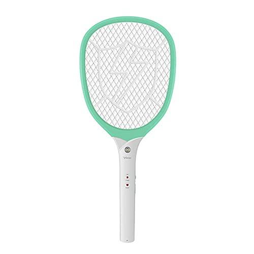 CQyg Mosca eléctrica Mosquitero eléctrico Swterter ABS Material Hogar Potente Mosquitero Swatter USB Recargable LED Iluminación Mosquito Killer