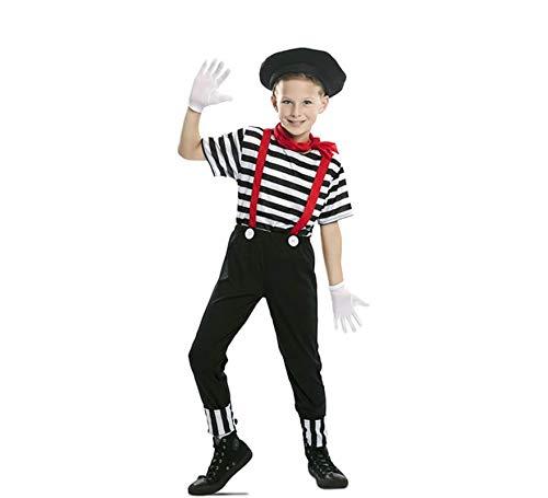 EUROCARNAVALES Disfraz de Mimo Circo para niño 10 a 12 años