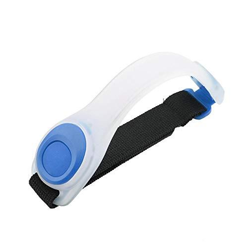 LED-Armband, Unisex-Leuchten im Dunkeln Led-Armband für Nachtlichter Für Fitness im Freien, Laufen, Radfahren(Blue Shell Blue Light)
