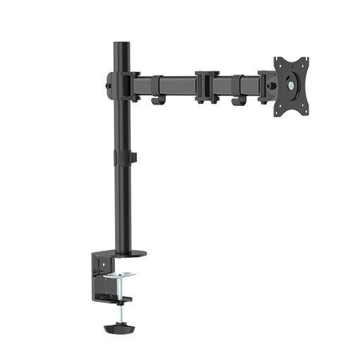 Tischhalterung für LED und LCD Monitore bis 27 Zoll VESA 75x75 100x100 HALTERUNGSPROFI OFFICE-112 (1 Monitor)