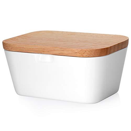 Aramox Caja de Mantequilla Caja de Mantequilla Corte de Queso Cajón de Frutas Sellado Rectangular Caja de Almacenamiento