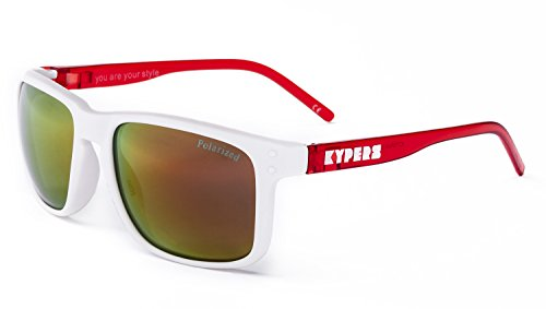 KYPERS Coconut Gafas de sol, Matte White- Red Mirror, 57 Unisex