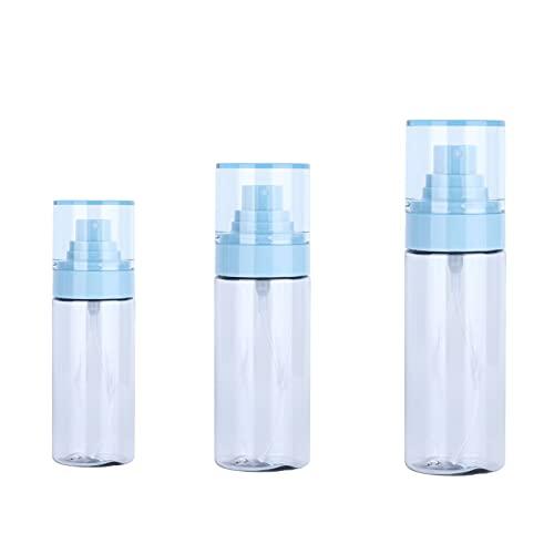 SONK Botellas de rociador de Niebla, 3 Piezas/Juego de Maquillaje, Botella de rociador Transparente, vacía, Reutilizable, portátil, Recargable para líquidos, aromaterapia para perfumes,