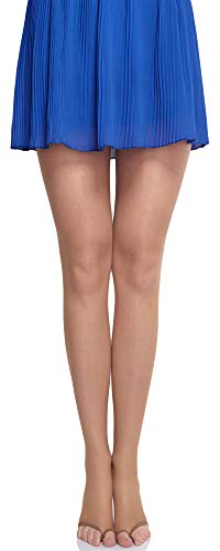 Merry Style Damen transparent zehenlose Strumpfhose Lycra MS 336 10 DEN(Sable, L (40-44))