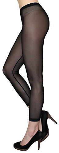 dy_mode Transparente Leggings in Sommerfarben/Durchsichtige Netz Leggings Strumpfhose - elastisch One Size 36 bis 42 - YLG114 (YLG114-Schwarz)