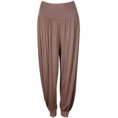 Pantalones de Yoga de Color sólido de Moda para Mujer Pantalones de harén Holgados Pantalones de Yoga