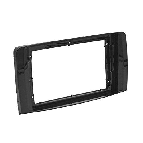 HMEILI 2-1Din Car DVD Frame Audio Fitting Adaptador Dash Trim Kits Facia Panel 9 pulgadas para BENZ R Class W251 R280 R300 2006-2013