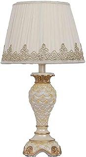 Lampe de Table Blanc moderne style européen mettre en évidence jaune broderie dentelle tissu poisson rouge globe lampe cor...