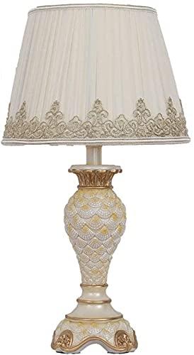 Lámpara Escritorio Blanco moderno estilo europeo resaltado tela de encaje bordado amarillo goldfish globo lámpara cuerpo material de resina lámpara de mesita de noche lámpara de iluminación lámpara de