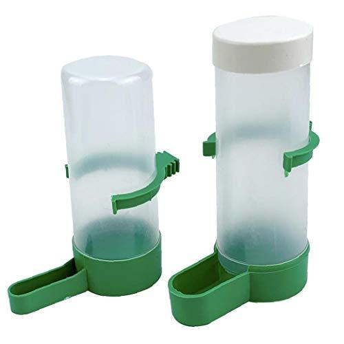 tJexePYK Alimentador de Mascotas del pájaro de Agua automático de la Fuente práctica plástica Durable para Aves Loros Jaula Accesorios