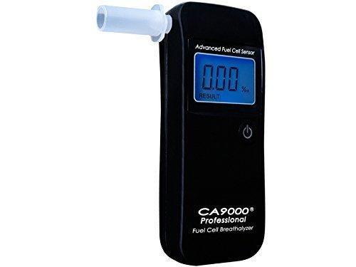 CA9000 Professional Alkoholtester elektrochemische Promilletester Digitaler elektrochemische Promilletester LCD Beleuchtet Alkomat