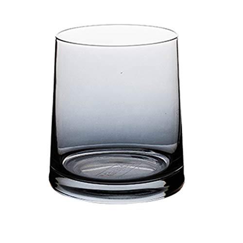 YUMEIGE Tazza per spazzolino da denti Spazzolino da denti Cup, una trasparente multifunzionale tazza di vetro (trasparente, grigio, colorato, Ambra) che può essere utilizzato come una Coppa spazzolino