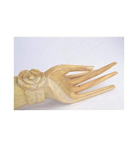 Gran mano de Buda/expositor Joyero de madera en bruto H40cm