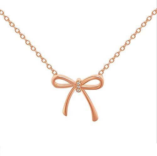 XDY Joyería de Mariposa Inocente e inocente Rose Gold Golty Diamond Diamond Necklace,Rose Gold