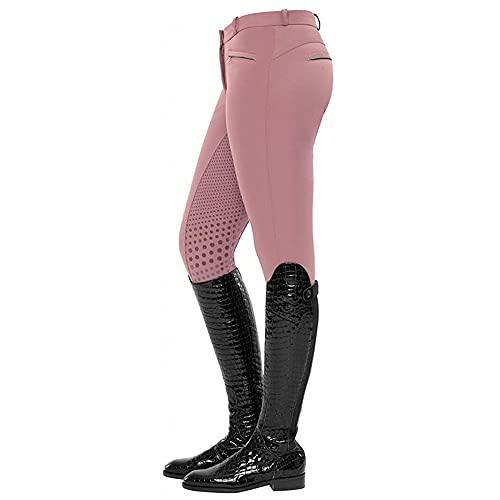 LGQ Calzones ecuestres Pantalones de Montar a Media Cintura y Ajustados Pantalones de Montar a Caballo Casuales para Mujeres