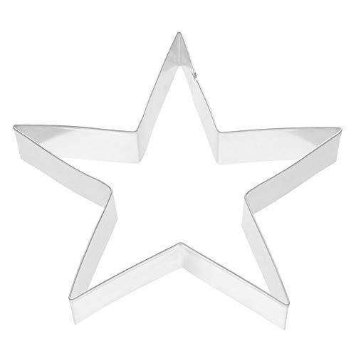Kaiser Lebkuchen-Ausstechform Stern 11,5 x 11,5 x 2,5 cm, Weihnachten, Edelstahl, leichtes präzises Ausstechen, sichere angenehme Handhabung