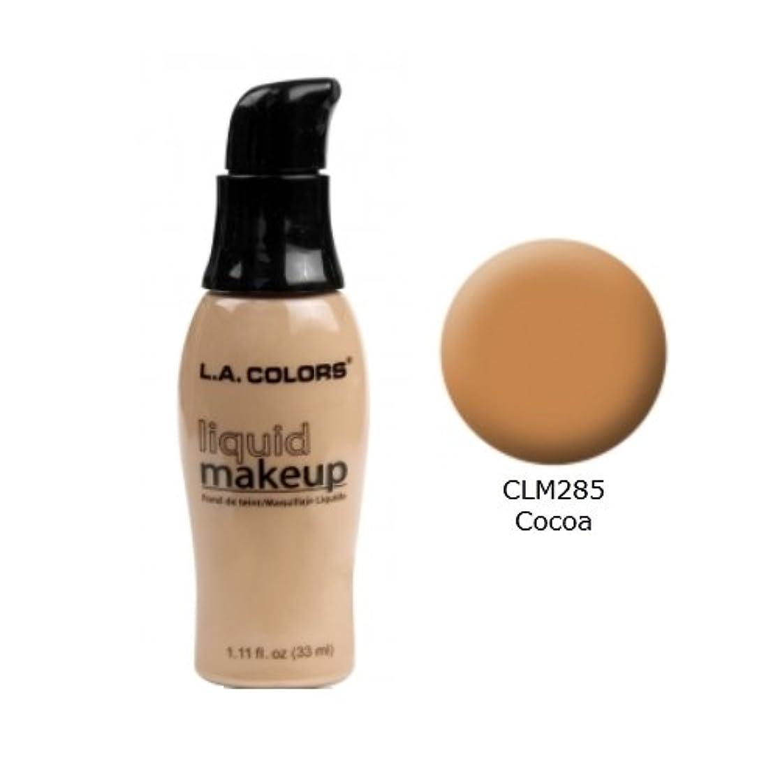 野球チェスしっとり(3 Pack) LA COLORS Liquid Makeup - Cocoa (並行輸入品)