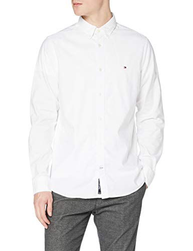 Tommy Hilfiger Core Stretch Slim Oxford Shirt Camisa, Blanco