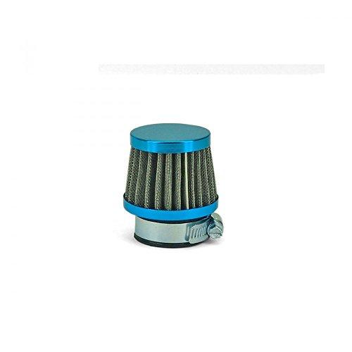 Filtre à air TNT Maille d'acier Inoxydable Bleu, Droite, connecteur 28/35 mm