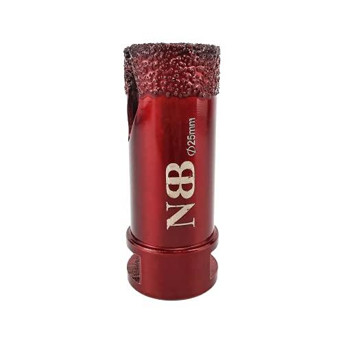 NBB Broca de diamante con M14, corona diamante para taladrar en seco y en húmedo profesionalmente en porcelana dura, cerámica, baldosas, granito, mármol, azulejo, para Amoladora Angular (1, 25mm)