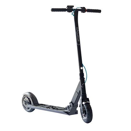 """SmartGyro Xtreme XD Patín eléctrico para niños y jóvenes, ruedas 8"""", 3 velocidades, plegable, ligero, autonomía de 18 Km, batería de litio, freno eléctrico, Scooter, luces traseras, Negro"""