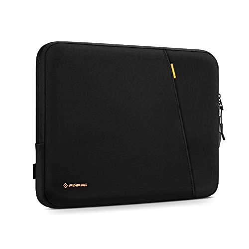 FINPAC Funda para Tablet de 11' para 11' iPad Pro, 10.9' iPad Air 4, 10.2' iPad, 10.5' iPad Air 3, Surface Go 2, Galaxy Tab, Huawei T5/T3, Protectora Bolsa Blanda con Bolsillo para Accesorios, Negro