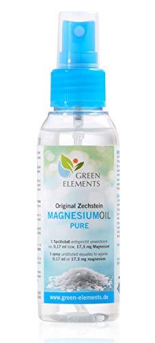 Aceite de magnesio PURO de Zechstein. 100ml de agua salina natural con aceite de magnesio en frasco pulverizador a modo de aerosol
