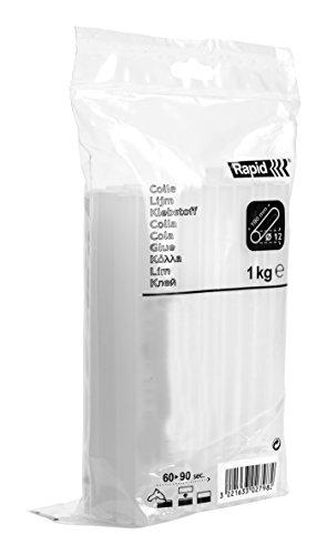 Rapid, 40302803, Bâtons de colle thermofusible, Pro-B, Blanc, ø12mm, Longueur 190mm, 1kg
