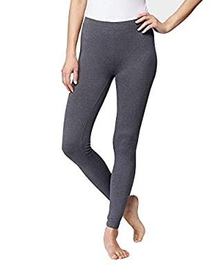 32 DEGREES Womens Cozy Heat Baselayer Comfy Lounge Pajama Legging, Ht Charcoal, Small