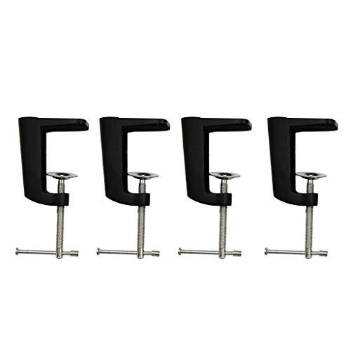 4pcs Verstellbare Arm Tischklemme Tischlampe Clip Halter Metallständer Schwar