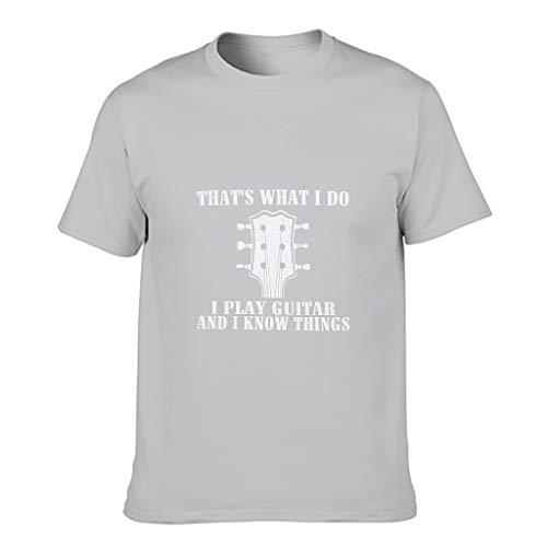 Camiseta de algodón para hombre con diseño de guitarra es lo que hago novedad, divertida, transpirable, estilo alfabeto, manga corta