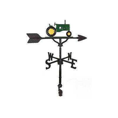 Montague Metal Products Wetterfahne mit grünem Traktor, 81 cm