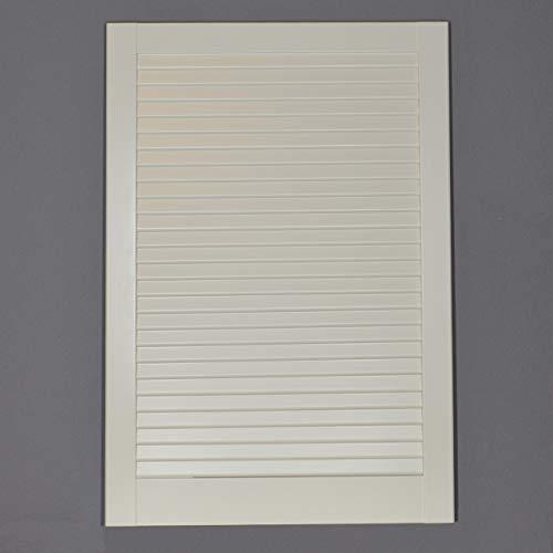 Lamellentür Kiefer weiss lackiert mit geschlossenen Lamellen 71,7 cm x 49,4 cm in 21 mm Stärke - Staubdicht, Lichtdicht - weiße Lamellentüren als Schranktür, Möbeltür oder Regaltür