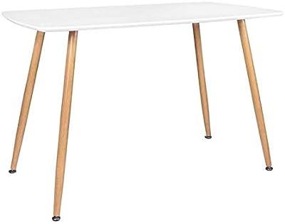 Zons Table DE Cuisine A Manger RECTANGULAIRE 4PERSONNES, 120x70xH75 cm