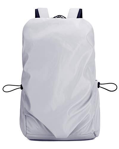CAMEL CROWN 登山バッグ 30L 大容量 バックパック リュックサック ショルダーバッグ 軽量 通気 多機能バッグ レインカバー付き アウトドア 登山 旅行 ハイキング PC収納 男女兼用 ユニセックス (グレー)