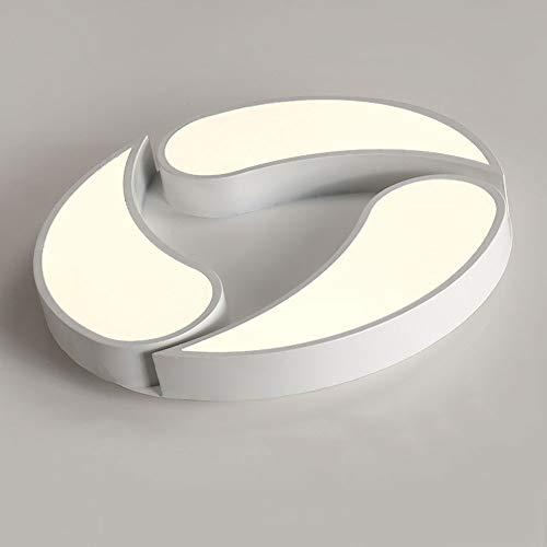 LED kreative Deckenleuchten, Nordic weiß runde Eisen Acryl Beleuchtung dekorative Kronleuchter Deckenlampen Modernes minimalistisches Wohnzimmer Schlafzimmer Büro-Deckenleuchte