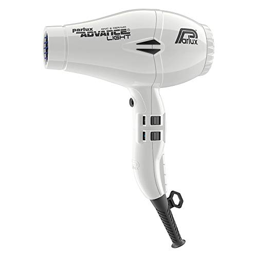 Parlux Advance Light Asciugacapelli Professionale, Ionic & Ceramic, Bianco