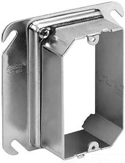 Steel City 52CADJ Adjustable Mud Ring, 4 in L x 4 in W x 2-1/8 in D, Steel, 1/2 to 1-1/2 in Raised