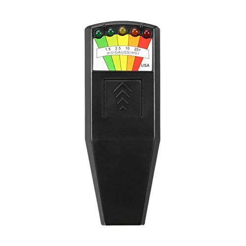 fengzong K2 EMF-Gauß-Messgerät für elektromagnetische Felder Ghost Hunting Detector Tragbarer EMF-Magnetfelddetektor 5 LED-Gauß-Messgerät (schwarz)
