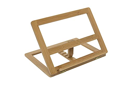 Creative Mark Tao Bamboo Painting Desk Easel and Drawing Stand - Travel Friendly, Adjustable Angles and Quick and Easy Set Up - Natural Finish