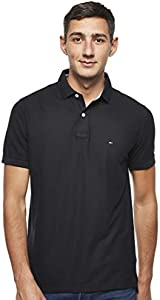 Tommy Hilfiger Core Hilfiger Regular Polo, Negro (Flag Black 060), Large para Hombre