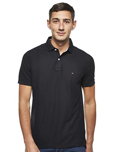 Tommy Hilfiger Core Hilfiger Regular Polo, Negro (Flag Black 060), Small para Hombre