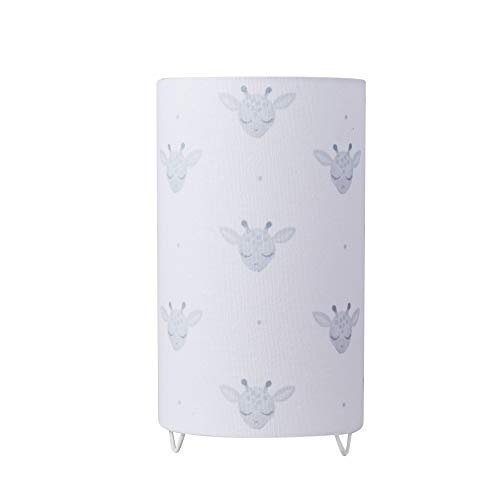 Pauleen 48040 Cute Tischleuchte max. 20W Tischlampe für E14 Lampen Kinderzimmerlampe Giraffe 230V Metall/Stoff ohne Leuchtmittel, Weiß,Grau