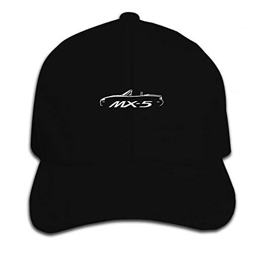 VGFTP Drucken Baseballmütze Mann Mazda Mx5 Inspirierte Auto Grafik Hut Schirmmütze , Herren Baseballmützen, Sonnenhut, Papa Hüte 1