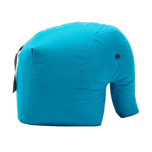 Sitting Bull 190168 Happy Zoo Carl Elefant Sitzsack, blau 100% Polyester beschichtet LxBxH 71x53x47cm