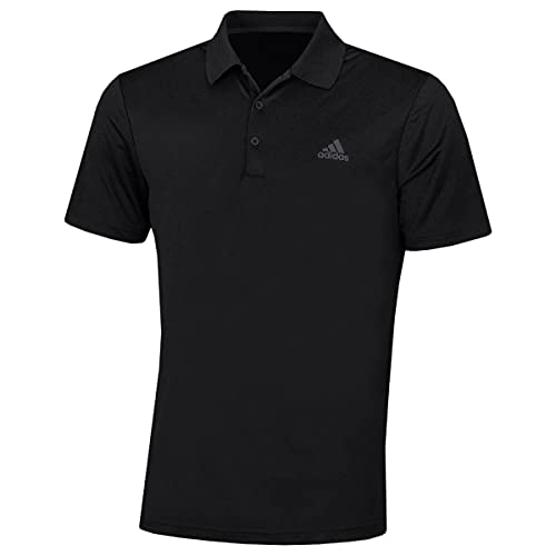 adidas Golf Herren Performance-Left Chest Logo Soft-Polo-Hemd - Schwarz - S